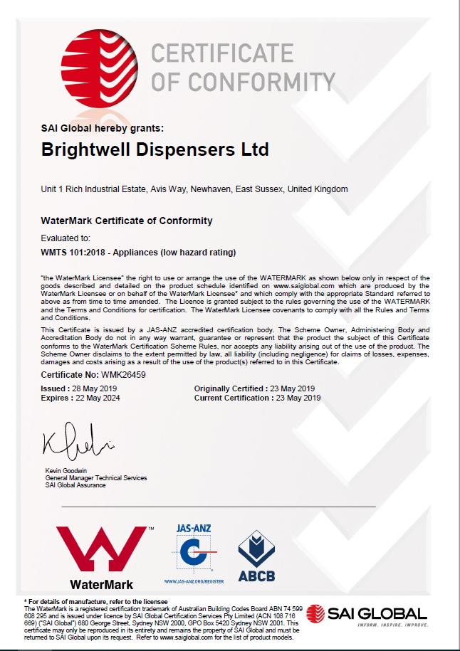 Watermark approval certificate image